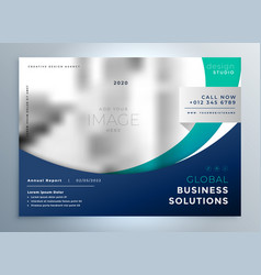 business brochure flyer modern presentation vector image
