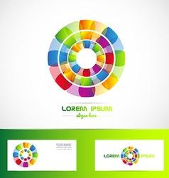Business flower logo vector