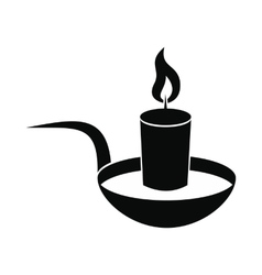 Candle icon black vector image