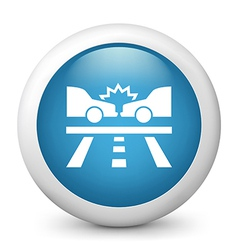 Car Crash Glossy Icon vector
