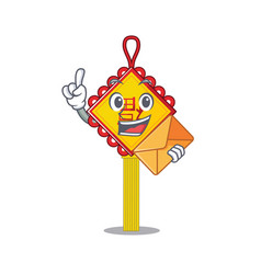 Cheerfully chinese knot mascot design vector