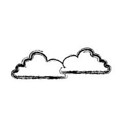 Cloud sky nature cloudscape weather symbols vector