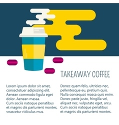 Coffee cup and macaroons with space for text vector