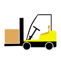 Colored lift-truck vector