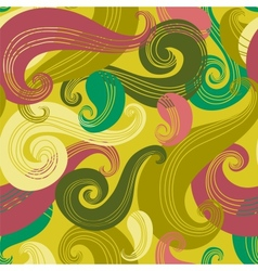 Colorful seamless wave pattern vector image