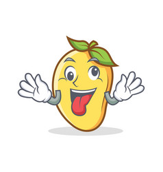 crazy mango character cartoon mascot vector image
