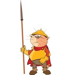 Cute Cat Knight Cartoon vector