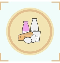 Dairy products icon vector