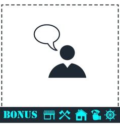 Dialog icon flat vector