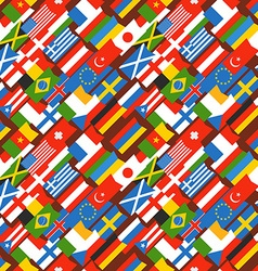 Different color flags seamless background vector image