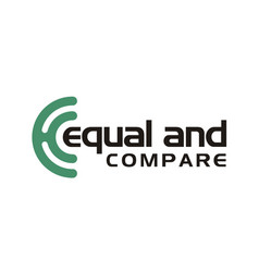digital monogram initial ce ec circle round logo vector image