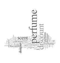 Discount perfume cents savings scent vector
