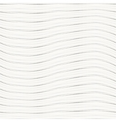 Dotted wavy seamless pattern vector image