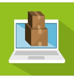 e-shopping package cargo design icon vector image