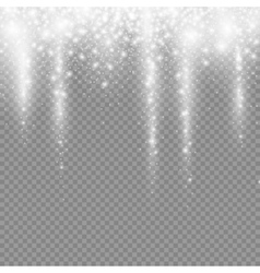 falling christmas light decoration snow isolated vector image