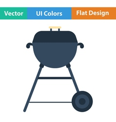 Flat design icon of barbecue vector image