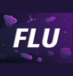 flu concept banner cartoon style vector image