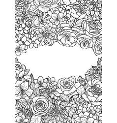 garden flowers mock up vector image