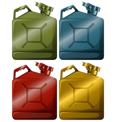 Gasoline containers vector image