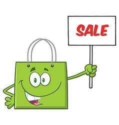 Green Shopping Bag Cartoon vector