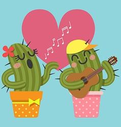 Guitar Cactus vector