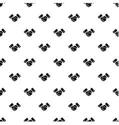 handshake pattern seamless vector image