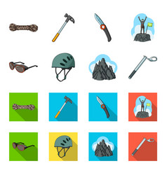 helmet goggles wedge safety peaks in the clouds vector image