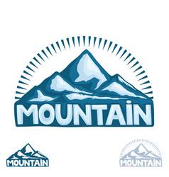 high mountain sign vector image