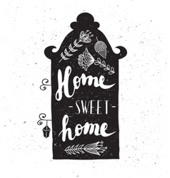 House with phrase sweet home vector