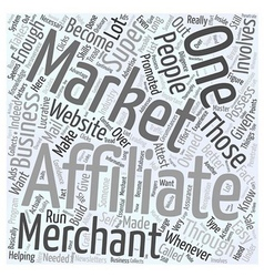 How You Can Become a Super Affiliate Word Cloud vector