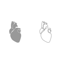 human heart it is icon vector image