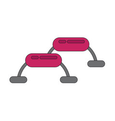 Icon in flat design steps for fitness vector