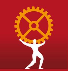 Industrial leader mythology titan symbol vector