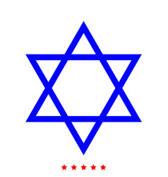 jewish star of david icon different color vector image