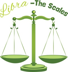 Libra-The Scales vector image vector image