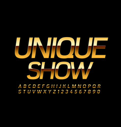 luxury poster unique show with elite font vector image