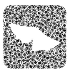Map acre state - covid mosaic with empty space vector