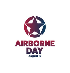 National airborne day august 16 holiday concept vector