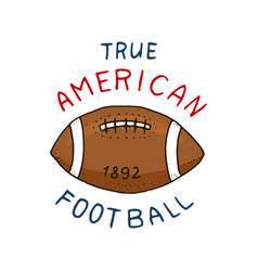 Native american football game and sport college vector