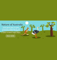 nature of australia banner horizontal concept vector image
