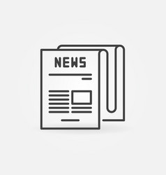 Newspaper concept icon in thin line style vector