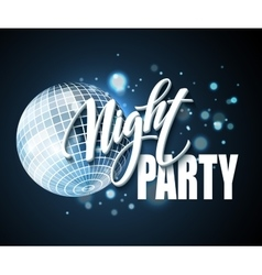 Night party typography design vector