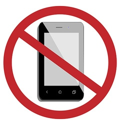 No mobile phone vector image