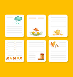 Organizer paper for notes printable pages vector