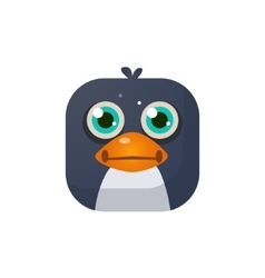 Penguin Square Icon vector