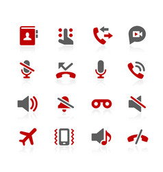 Phone calls interface icons vector