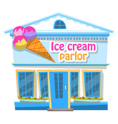 Restaurant or shop with sorbet ice-cream vector