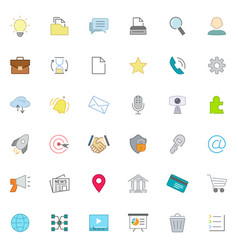 set of web design icons vector image