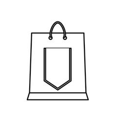 shopping bag gift vector image vector image