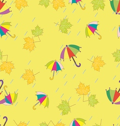 Signs of autumn background vector image